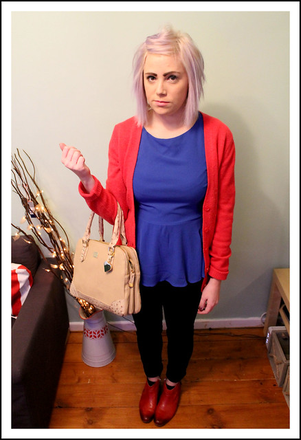 Outfit post red cardigan