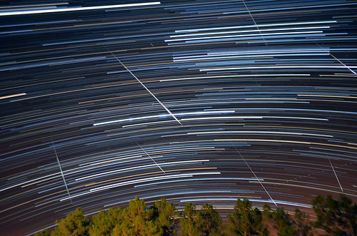 Geminid Star Trail by Jeka World Photography