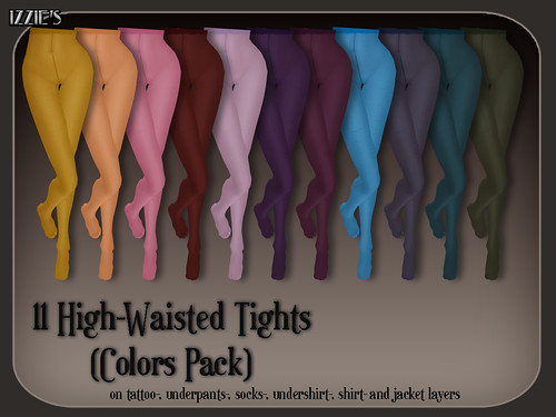 High-Waisted Tights (Colors)