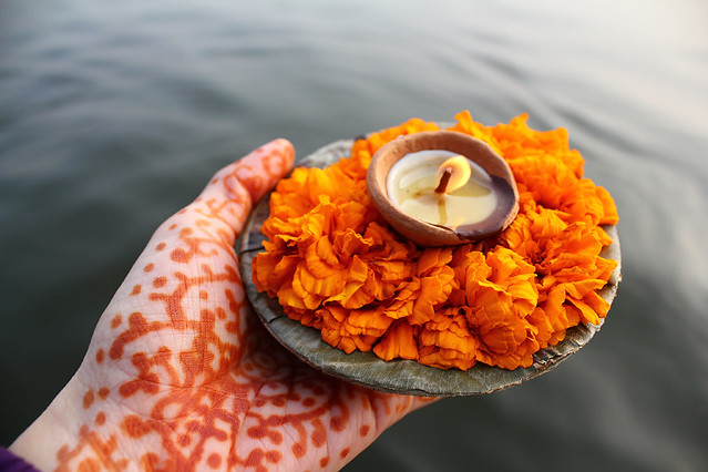 Offerings to the holy river
