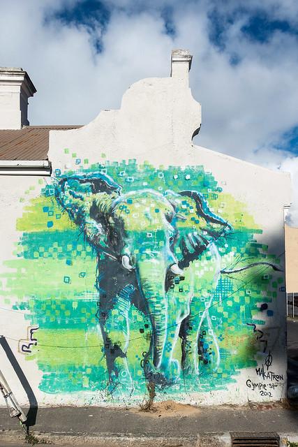 Elephant on Gympie Street by Mika Mika aka Makatron.