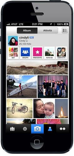 Flickr per iPhone