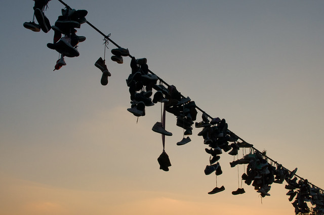 Shoes on a string