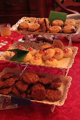 A festive array of cookies