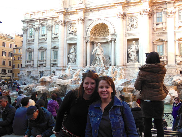 me & Angie at the Trevi Fountain