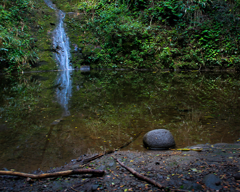 Waipio Valley waterfall landscape