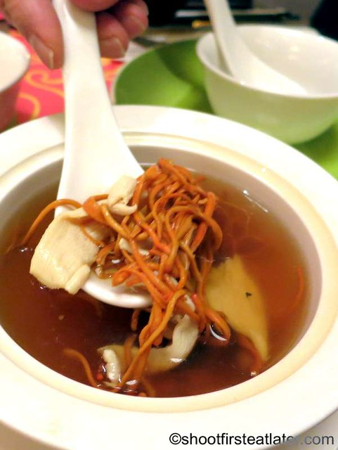 Imperial House Dim Sum-double boiled codycep flowers & chicken soup HK$45