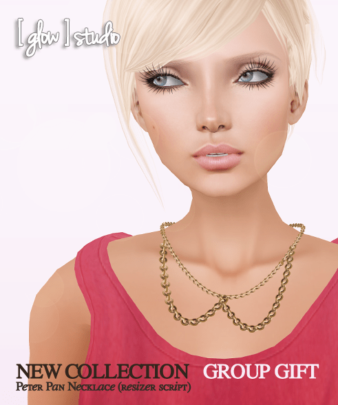 [ glow ] studio - New Collection group gift - Peter Pan necklace