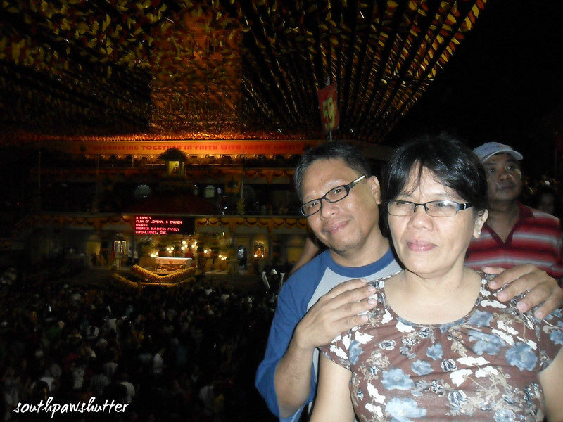 misa sa basilica with mama and daddy