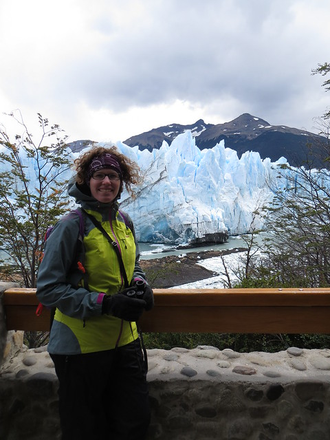 Amy with the glacier