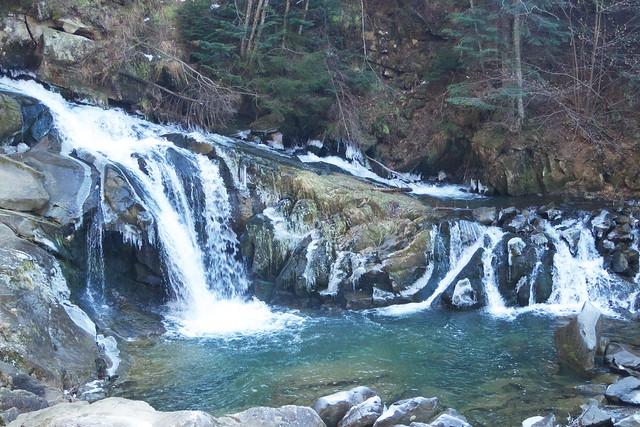 Kamyanka waterfall, Carpathians, Ukraine