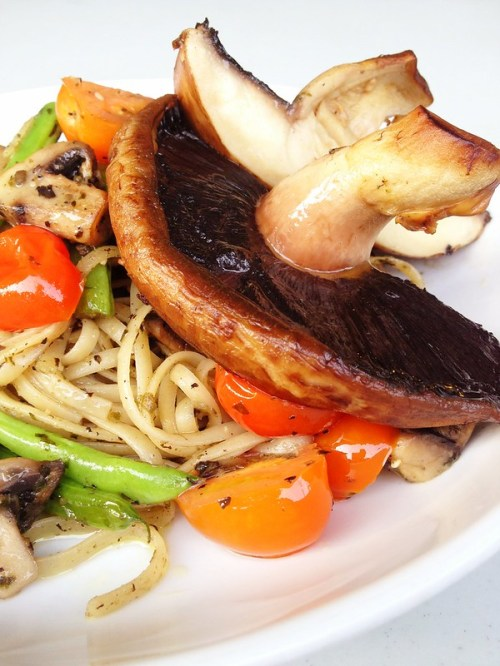 Truffle-some Shrooms Pesto Pasta