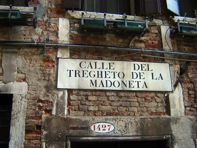 sign, street sign, Venice