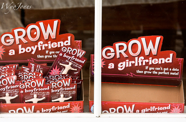 The Dating Scene Realities: A Store Window in the Old Towne of Spring, Texas