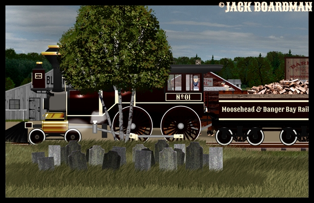 The Adventure Train arrived in Moosehead City
