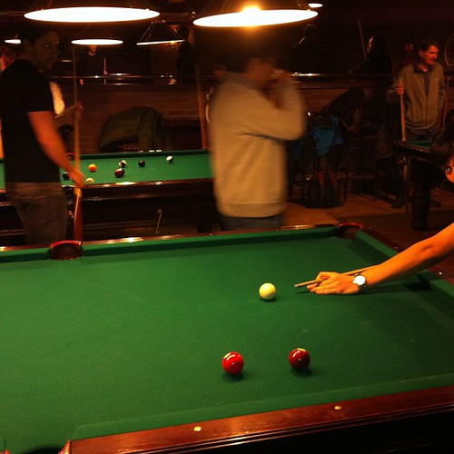 I missed playing pool...