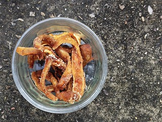 Deep-fried pig ears