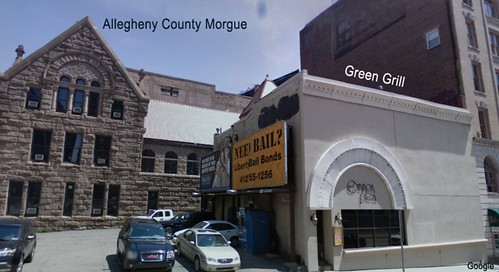 former Greens Grill no Common Plea 310 Ross Street Pittsburgh Google Street View copy