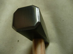Scythe hammer polished and ready to use