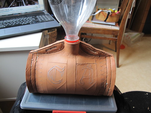 leather costrel 12