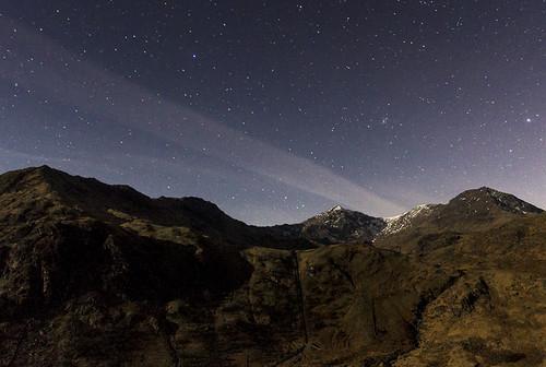 Snowdon night flight