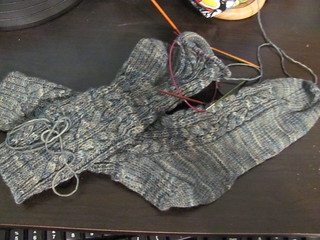 Rattlesnake Creek socks in progress