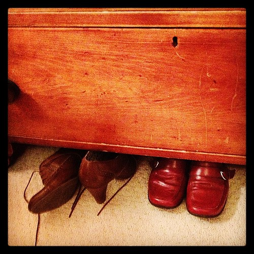 Mar 5 - under {shoes under my dresser} #fmsphotoaday