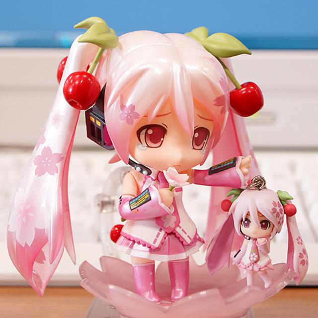 Comparison with Sakura Miku charm
