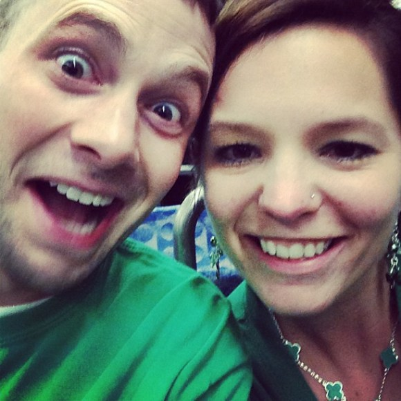 Go ahead. Make a face. I'll instagram it. Love you. @cfd46! On the T, headed back to the hotel. Before 9pm. #pittsburgh #stpatricksday