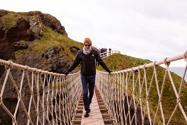 Thom crossing Carrick-a-Rede