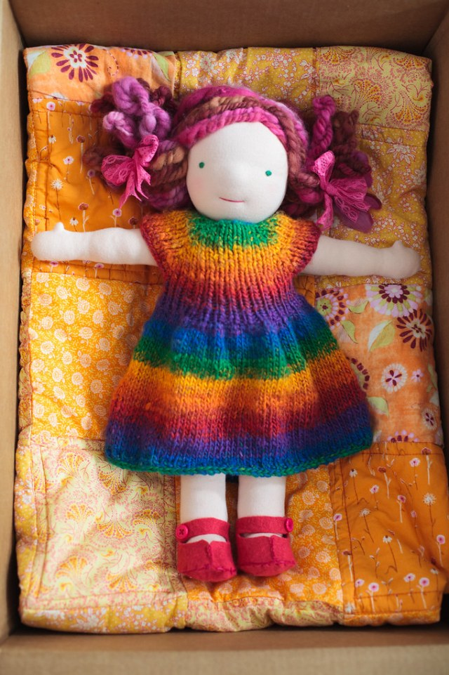Mommy made waldorf inspired doll.