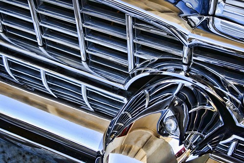 Perfect grille of a Packard 400 at Afton Station, Route 66, USA. Copyright Jen Baker/Liberty Images; all rights reserved.