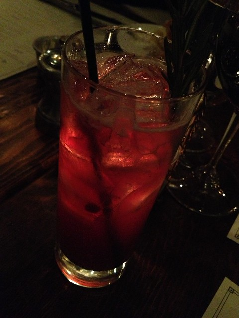 Pomegranate Fizz cocktail - Wayfare Tavern