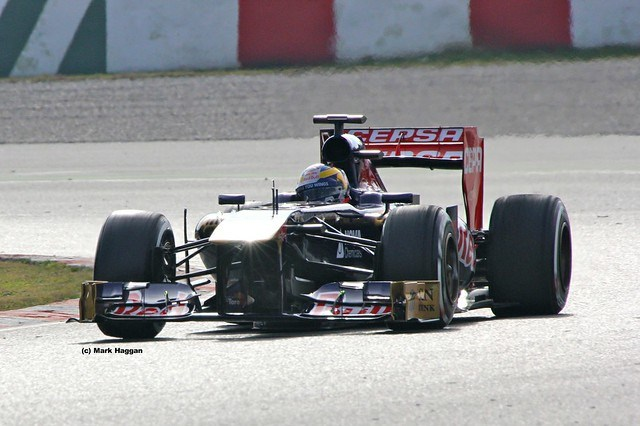 Jean-Eric Vergne's Toro Rosso in Formula One Winter Testing 2013