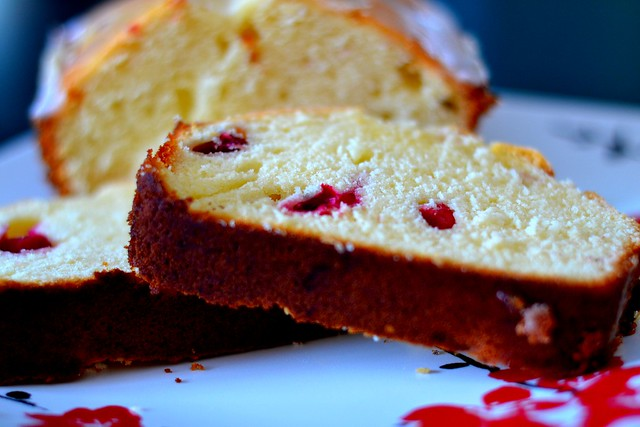 cranberry pound cake - GB