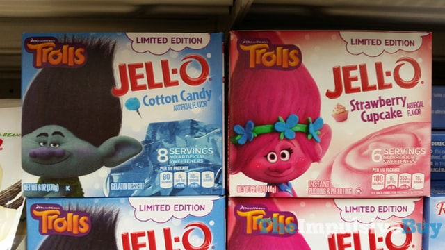 Limited Edition Jello Cotton Candy Gelatin and Strawberry Cupcake Pudding