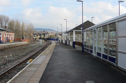 Stalybridge Station, towards the old Manchester platform
