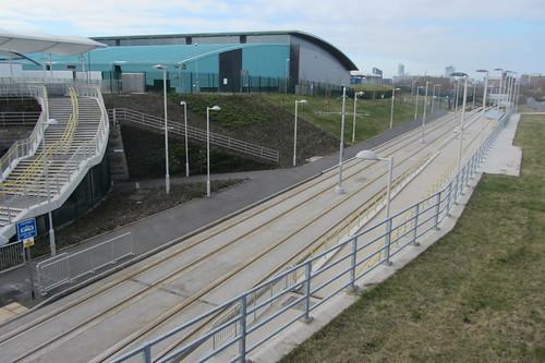 Etihad Campus tram station, Manchester end