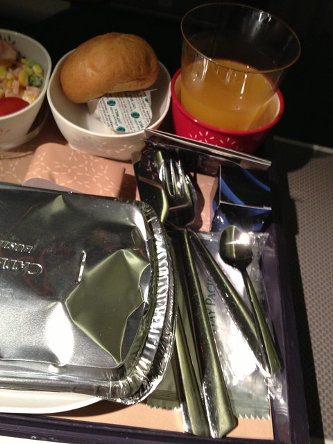 Metal Cutleries and Box of Praline for Premium Economy