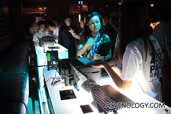 Guests were invited to test and experience the various L-series printer models