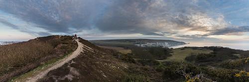 MTB in The West Wight - Headon Warren Panorama