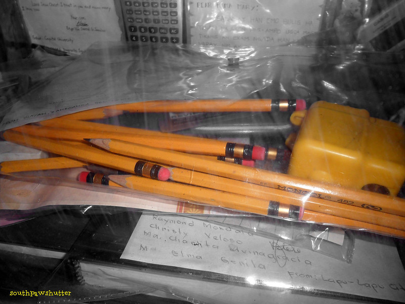 pencils and sharpener