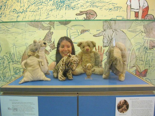 with the original Winnie the Pooh toys