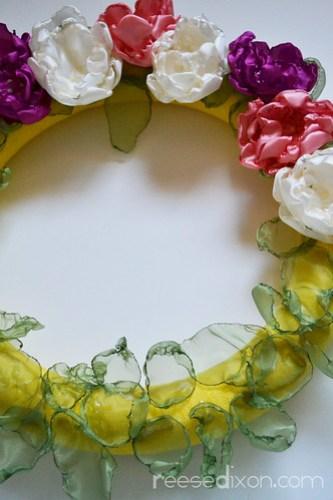 Singed Flower Wreath Tutorial Step 9