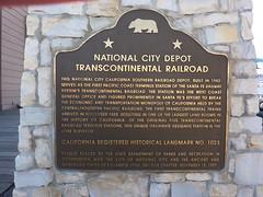 P1170739 California Historical Landmark No. 1023 National City Depot Transcontinental Railroad