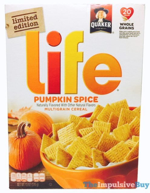 Quaker Limited Edition Pumpkin Spice Life Cereal