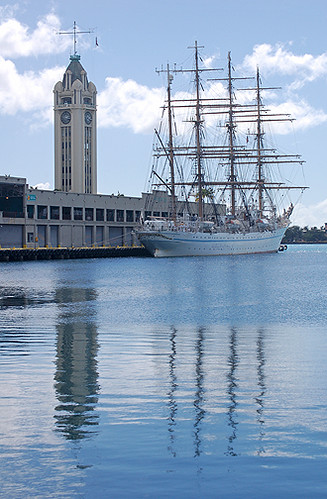 Aloha Tower and Kaiwo Maru