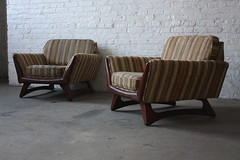 Amazing Adrian Pearsall Mid Century Modern Lounge Chairs for Craft & Associates (U.S.A., 1950's)