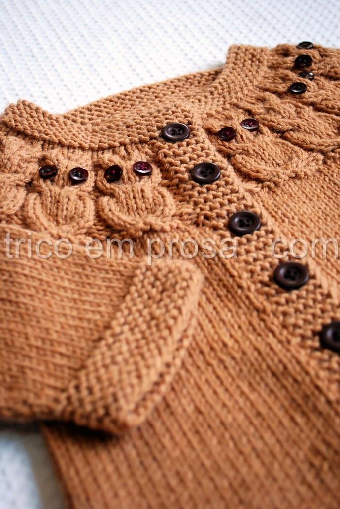 tricô em prosa - Casaco Owlet
