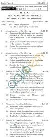 UPTU M.B.A. Question Papers - MBA-FM-4-Planning & Financial Reporting